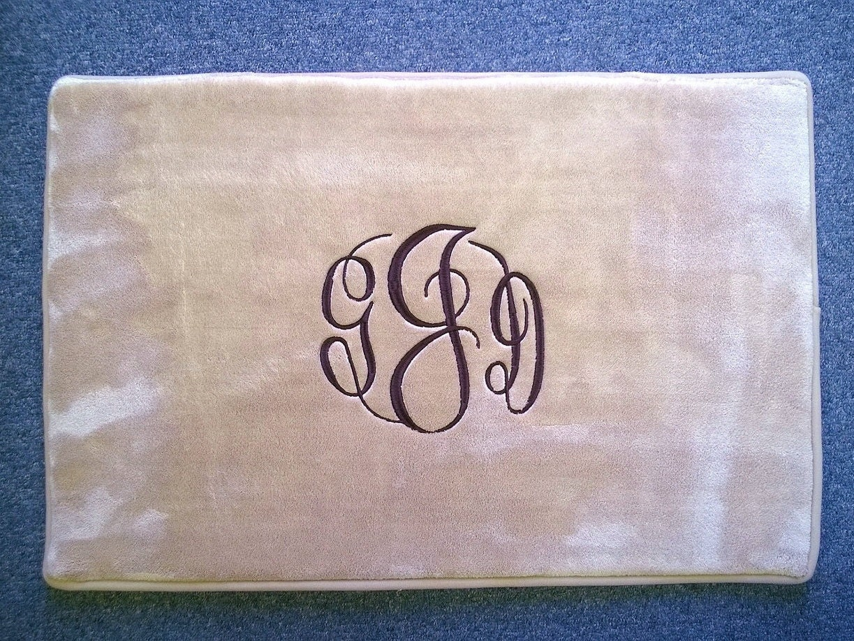 Rug Mat Personalized Monogrammed Bath Bathroom Kitchen Door