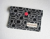 Black and white tiles Business Card Holder
