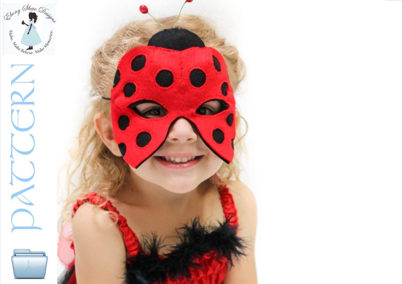ladybug mask pattern instant download sewing pattern for