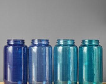 Mason Jar Centerpiece- Mason Jar Canisters, Painted Mason Jars, Kitchen Mason Jars, Mason Jar Decor, Kitchen Decor, Storage Mason Jars