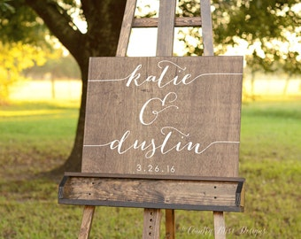 Wedding Name sign, Welcome wedding sign, guest book alternative, Wooden Welcome Sign, guest book sign, Wood name sign, wedding welcome sign