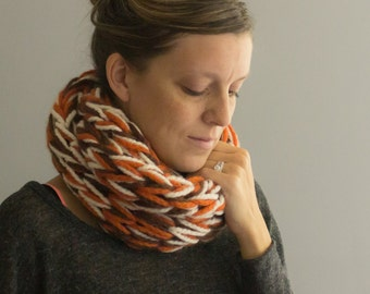 One of a Kind Infinity Scarf, Infinity Cowl, Chunky Knit