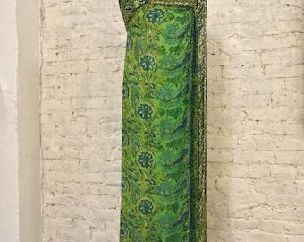 70s Spectacular Silk Evening Gown