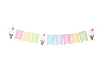 Ice Cream Party Banner - Ice Cream Birthday Banner - Ice Cream Party - Sundae Party Banner - Ice Cream Cone Banner - Ice Cream Decoration