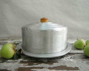 Retro Aluminum Cake Platter