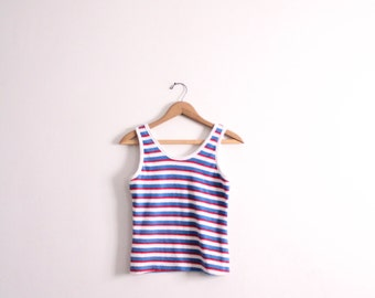 Striped Terry Cloth 80s Tank