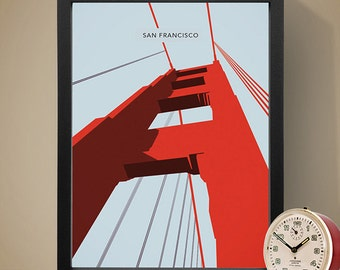 San Francisco - The Golden Gate Bridge Poster, Art Print, City Poster