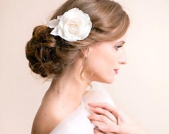 Blush Pink Flower Hair Clip Bridal Rose
