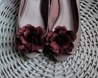 Ash Rose Flowers Shoe Clips Made of Genuine Real Leather Decoration For Shoes  Women Accessories Wedding Bridal Casual Formal Decoration