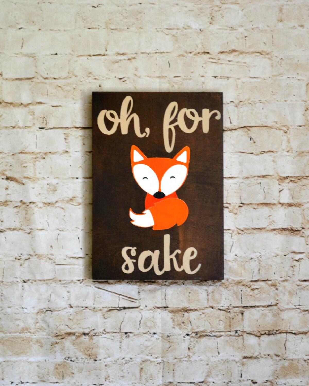 Fox Art Wooden Home Decor Fox Decor Funny Wall Art Oh