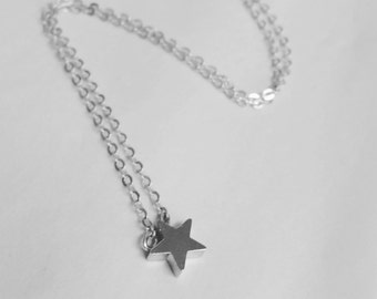 Tiny Star Necklace - Silver Plated, Minimalist Jewellery