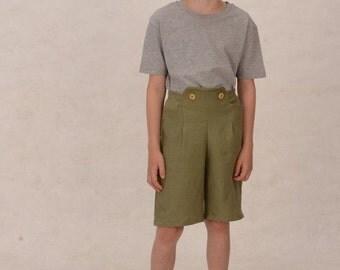 "Vegan ""Leather pants"" for boys linen pants"
