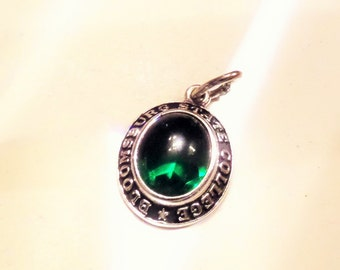 Vintage SS College Charm Bloomsburg State College Green Stone
