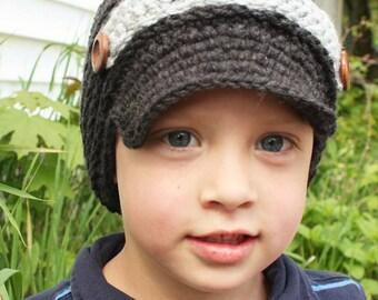 Newsboy style hat, girl newsboy hat, boy newsboy hat, newborn photo prop, crochet newsboy hat, newsboy baby hat, toddler hat, boy hat