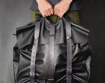 Leather backpack Mens leather backpack Leather rucksack Travel