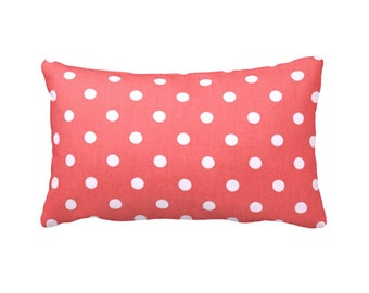 Coral Throw Pillows Decorative Pillows Throw Pillows for Couch Coral Pillow Covers Polka Dot Pillow Coral Decor Coral Lumbar Pillows Cushion