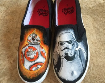 Star Wars Painted Shoes