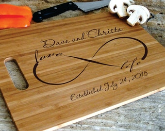 Personalized Cutting Board Cheese Tray Engraved and Carved