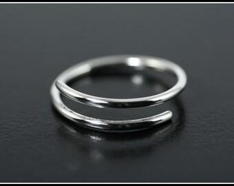 Sterling silver ring, Spiral ring,  Adjustable Ring, Simple spiral ring, Thumb of ring , Phalanx spiral ring,  Minimalist silver ring