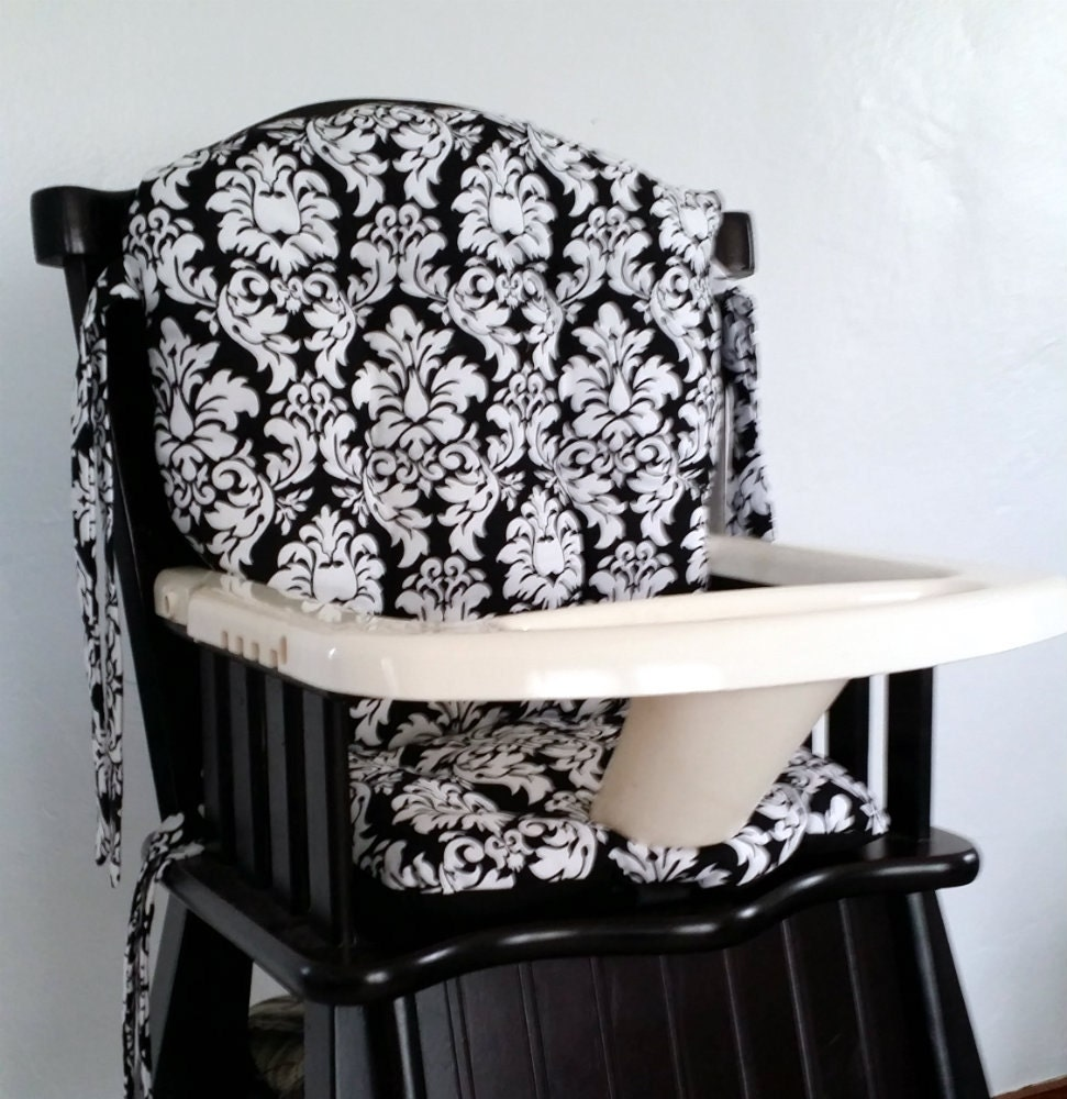 Custom Eddie Bauer Damask High Chair Cushions High Chair