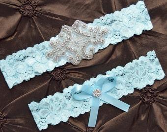 Wedding Garter-Garters-Stretch lace-blue garter-Garter-Rhinestone-Pearl garter-Keepsake-Something Blue-Lace Garter-bridal garter