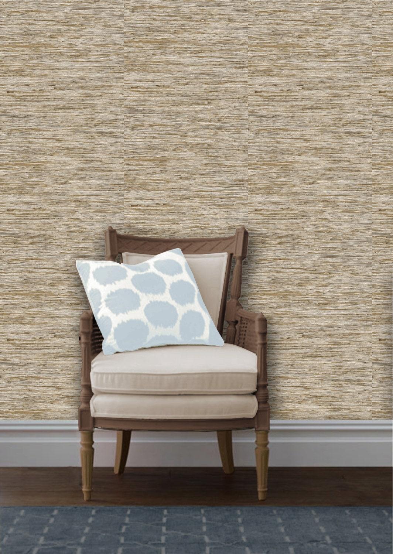 Stylish Peel And Stick Grasscloth Wallpaper