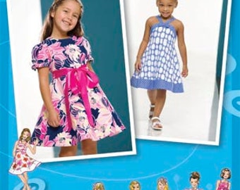 Simplicity 2989 Toddlers and Child's Dress with Bodice and Skirt Variations. Size 4-8. Inspired by Project Runway.
