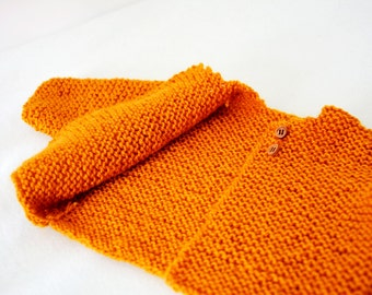 vest in wool, baby gift baby mustard Cardigan jacket, custom vest