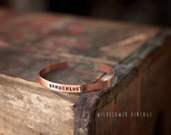 Wanderlust Copper Cuff Bracelet | Boho Jewelry