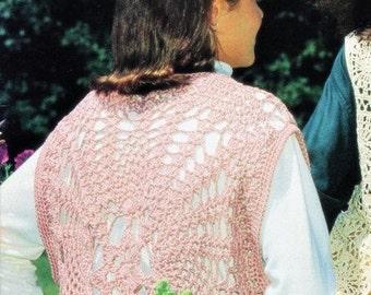 Crochet Circular Vest Pattern,  Fancy Vest PATTERN,  Digital Download- Ladies Small, Medium, & Large