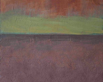 Encaustic. Abstract painting. Textured painting. Modern Landscape. Beeswax. Free Shipping!