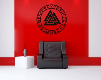 Valknut - Wall Decal - Wall Sticker - Norse Symbol - Valknut!
