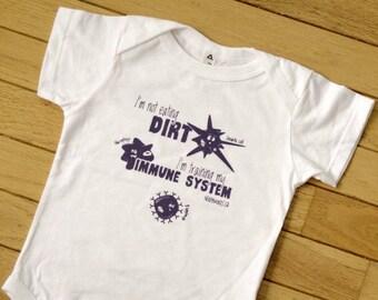 SALE! Immune System Baby Onesie | Science Baby Clothes | I'm Training My Immune System | Teacher, Doctor, Nurse, Scientist, Student Gardener