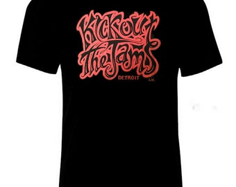 Kick Out The Jams Detroit  T-Shirt  Red Letting on Black Tee