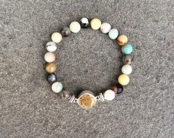 Flower Amazonite Shore Line Sand Bracelet