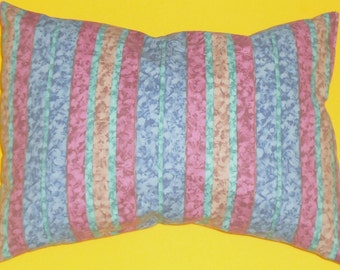 pillow, decorative pillow multicolor stripes, multicolor cushion