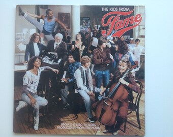 Lp FAME - Vintage LP record the kids from fame -  vinyl dance music - musical Fame hits - 80s record album - tv series the kids from fame