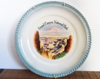 "Vintage 9.5 "" Grand Canyon National Park Souvenir Plate"