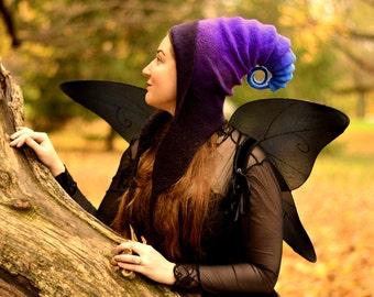 Galaxy Pixie Hood. Cosplay Hat. LARP