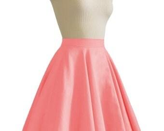 JULIETTE Coral Rockabilly Swing Rock 'n Roll Skirt//Full Circle Black Skirt//Retro Mod 50s style Skirt//Party Skirt XXS-3X