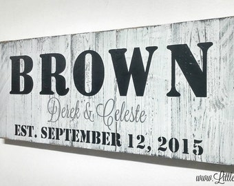 Established Family Sign | Family Name Sign | Last Name Sign | Farmhouse Sign