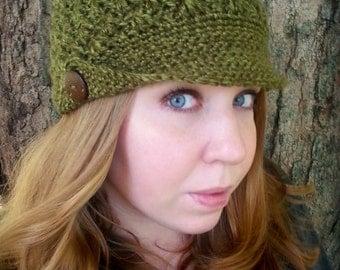 Newsboy Hat Women - Women's Newsboy Hat - Crochet Newsboy Cap - Women's Visor Hat - Women's Beanie Hat - Green Hat - Crochet Flat Bill Hat