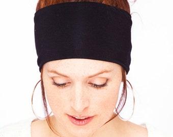 Namaste Yoga Headband - Black Headband Workout Headband Running Headband Nonslip Headband Black Head wrap Black Hair Band Etsy Finds Classic