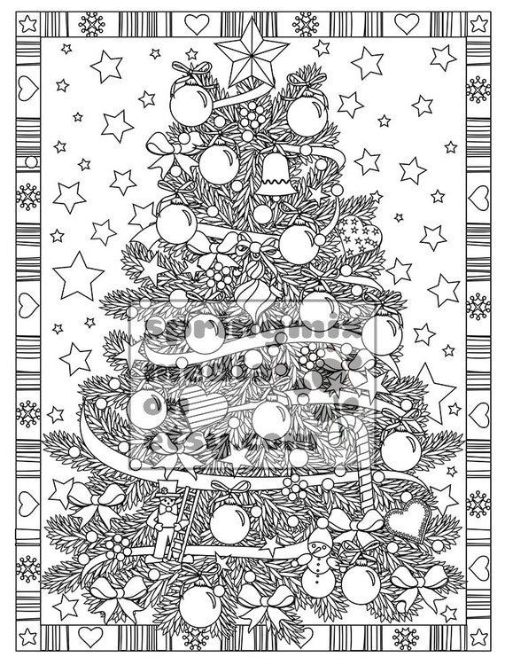 christmas detailed coloring pages | Christmas coloring page Christmas Treats Holiday Coloring