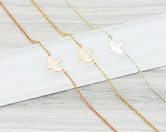 Gold Bird Bracelet, Dove Bracelet, Bird Bracelet, GOLD, ROSEGOLD, SILVER, Bridesmaid Jewelry