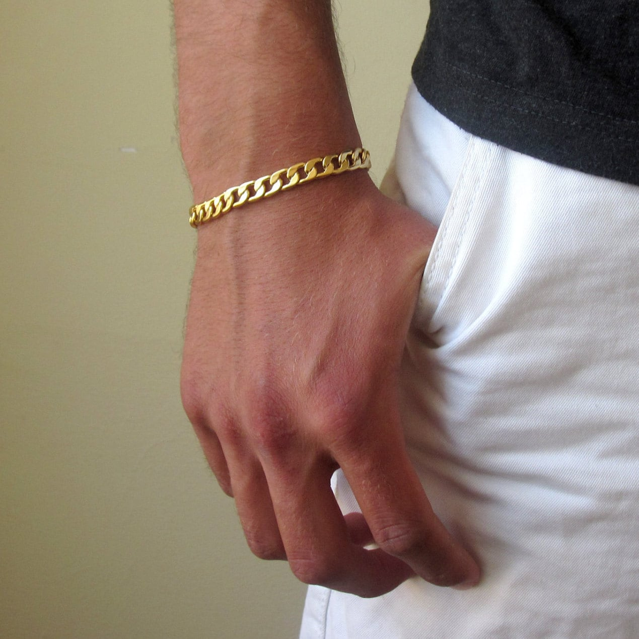 mens gold bracelet mens bracelet gold chain bracelet. Black Bedroom Furniture Sets. Home Design Ideas