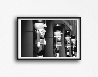 Toy Soldiers Photo at Christmas Time in New York City Photograph Black and White Street Photography Manhattan Art Print