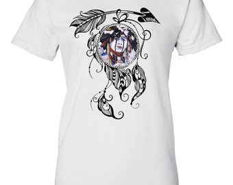 "Native American ""Native Spirit"" Warrior Indian Dancer Limited Edition Custom Ladies T-Shirt"