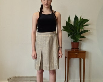 80s Plaid Skirt / Woolen 80s Skirt
