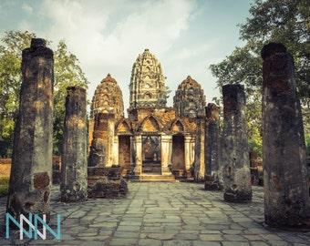 Travel Thailand Poster, Fine Art Prints, Thailand Print Photography, Asia Wall Art, Wall Art Photography - Wat Sri Sawai Sukhothai